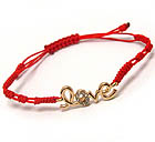 CRYSTAL DECO LOVE AND BRAIDED YARN FRIENDSHIP BRACELET
