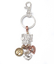 FAITH HOPE AND LOVE THEME CHARM KEY CHAIN
