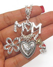 MOM LOVE THEME CHARM NECKLACE