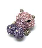 LARGE CRYSTAL STUD HIPPO STRETCH RING