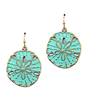 METAL RODEO SAND DOLLAR EARRING