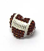 FOOTBALL HEART STRETCH RING