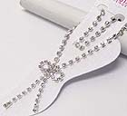 RHINESTONE RIBBON DROP ANKLET