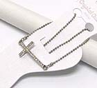 CRYSTAL DECO SIDE CROSS ANKLET