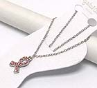 CRYSTAL PINK RIBBON DROP ANKLET