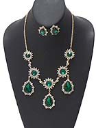 LUXURY AUSTRIAN CRYSTAL BOUTIQUE STATEMENT NECKLACE EARRING SET