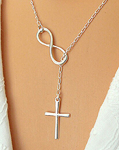 CROSS AND INFINITY THREAD CHAIN NECKLACE - ETSY STYLE