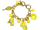 LEISURE SPORTS CHARM AND ACRYLIC BEAD TOGGLE BRACELET