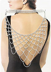 MULTI CRYSTAL PARTY BACK JEWELRY