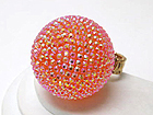 CRYSTAL FASHION LARGE DISCO BALL STRETCH RING