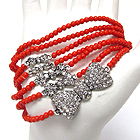 CRYSTAL DECO MULTI RIBBON STACKABLE STRETCH BRACELET