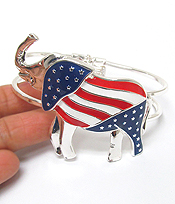 AMERICAN FLAG ELEPHANT BANGLE BRACELET