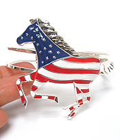 AMERICAN FLAG DONKEY BANGLE BRACELET