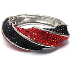CRYSTAL PAVE TWIST HINGE BANGLE