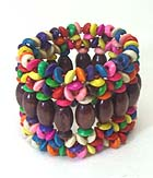 MULTI WOODEN BEAD STRETCH BRACELET