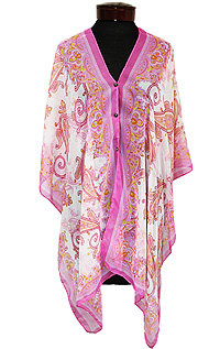 PAISLEY  MULTI DESIGN 3 WAY BEACH PONCHO COVER UP