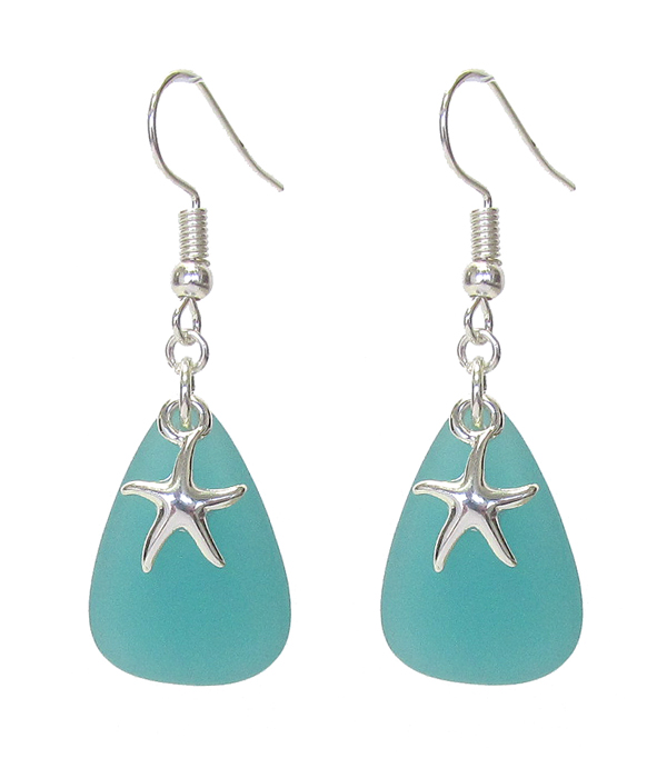 SEALIFE THEME SEAGLASS EARRING - STARFISH
