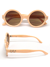ROUND HIGH ACRYLIC FRAME SUNGLASSES -UV PROTECTION