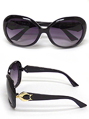 ARCHED SHAPE METAL DESIGN ACRYLIC SUNGLASSES-UV PROTECTION