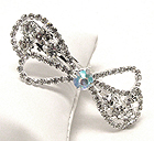 RHINESTONE AND CRYSTAL HAIR PIN