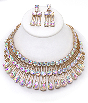 LUXURY CLASS VICTORIAN STYLE AND AUSTRALIAN GLASS DOP PARTY NECKLACE SET