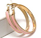 EPOXY DECO METAL HOOP EARRING