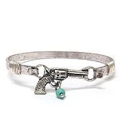 SOUTHERN COUNTRY STYLE PISTOLWIRE BANGLE BRACELET