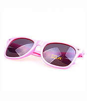 UV PROTECTION FASHION COLOR FRAME SUNGLASSES