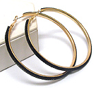 COLOR METAL NET TUBE DECO HOOP EARRING