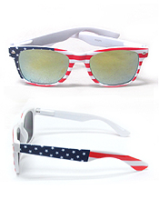 UV PROTECTION AMERICAN FLAG MIRROR SUNGLASSES