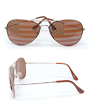 UV PROTECTION AMERICAN FLAG METAL SUNGLASSES