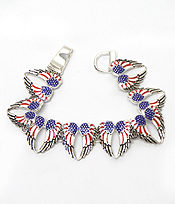 AMERICAN FLAG WINGS MAGNETIC BRACELET