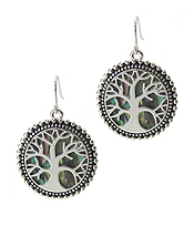 ABALONE TREE OF LIFE EARRING