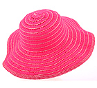 STRAW AND FABRIC MIX FLOPPY BRIM HAT