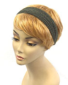 SPANDEX FABRIC AND WOOD RING BACK MULTI FUNCTION HEADBAND AND WRIST WRAP