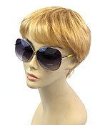 DESIGNER INSPIRED LARGE FRAME AND PVC COAT SUNGLASSES - UV PROTECTION
