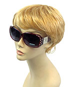 CRYSTAL ACCENT GLAMOUR FRAME SUNGLASSES - UV PROTECTION