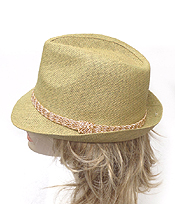 STRAW SUMMER FEDORA HAT HAT