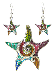 ART DESIGN STARFISH PENDANT SET