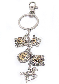 HORSE THEME CHARM KEY CHAIN