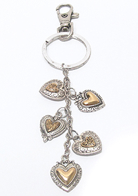 HEART THEME CHARM KEY CHAIN