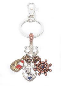 NAUTICAL THEME CHARM KEY CHAIN