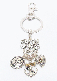RELIGIOUS THEME CHARM KEY CHAIN