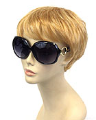 LARGE METALLIC CIRCLE SUNGLASSES-UV PROTECTION