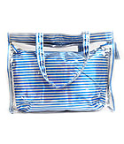 STRIPE BAG AND TRANSPARENT TOTE BAG SET OF 2