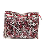 LEOPARD PRINT BAG AND TRANSPARENT TOTE BAG SET OF 2