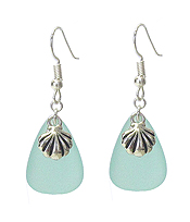 SEALIFE THEME STONE EARRING - SHELL