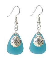 SEALIFE THEME STONE EARRING - SAND DOLLAR