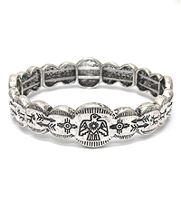 AZTEC PATTERN STRETCH BRACELET