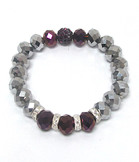 FACET BEAD STRETCH BRACELET